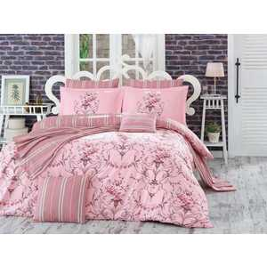 Комплект постельного белья Hobby home collection 2-х сп, поплин, Ornella, розовый (1607000068) kingsilk seda 2 спал 2 сп болотно розовый