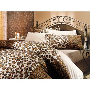 Комплект постельного белья Hobby home collection 1,5 сп, поплин, Adriana, коричневый (1501000022) комплект постельного белья hobby home collection 1 5 сп поплин melody 1501000889