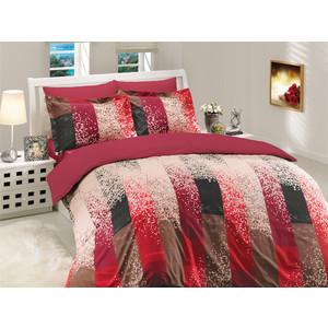 где купить Комплект постельного белья Hobby home collection Евро, поплин, Alandra , бордовый (1501000027) по лучшей цене