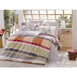 где купить Комплект постельного белья Hobby home collection Евро, поплин, Alanza, серый (1501000920) по лучшей цене