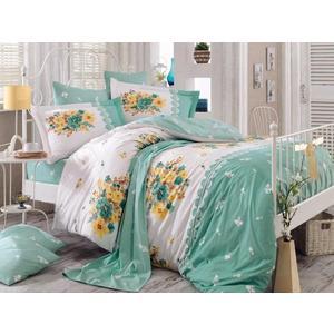 где купить Комплект постельного белья Hobby home collection Евро, поплин, Alvis , зеленый (1501000921) дешево