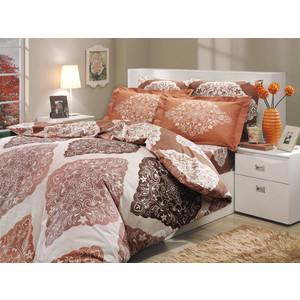 где купить  Комплект постельного белья Hobby home collection 2-х сп, поплин, Amanda, коричневый (1501000617)  по лучшей цене