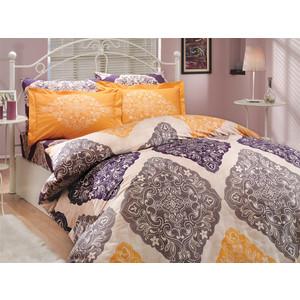 Комплект постельного белья Hobby home collection Семейный, поплин, Amanda, фиолетовый (1501000038) ginzzu ga 3008w white сетевое зарядное устройство 2 1 a