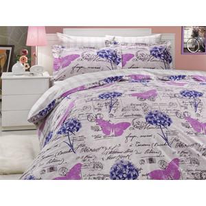 где купить Комплект постельного белья Hobby home collection Семейный, поплин, Ancelica, лиловый (1501000044) по лучшей цене