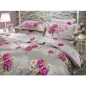 где купить Комплект постельного белья Hobby home collection Евро, поплин, Calvina, светло-серый (1501000068) по лучшей цене
