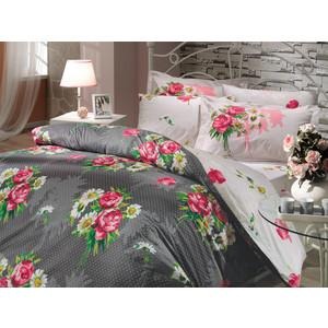 Комплект постельного белья Hobby home collection Семейный, поплин, Calvina, серый (1501000072) цена