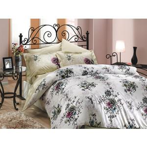 где купить Комплект постельного белья Hobby home collection Семейный, поплин, Carmen, бежевый (1501000638) по лучшей цене