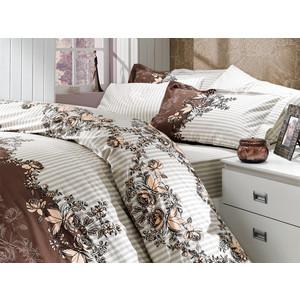 Комплект постельного белья Hobby home collection 1,5 сп, поплин, Delfina, коричневый (1501000088) delfina платье до колена