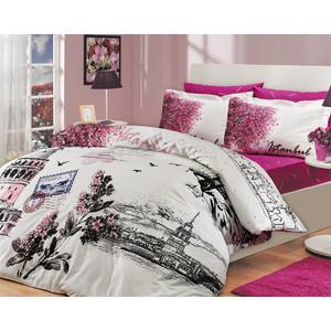 Комплект постельного белья Hobby home collection Семейный, поплин, Istanbul Panaroma, розовый (1501000114)