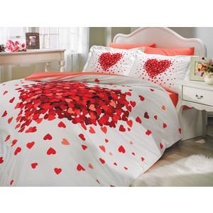 цена на Комплект постельного белья Hobby home collection Евро, поплин, Juana, красный (1501000115)