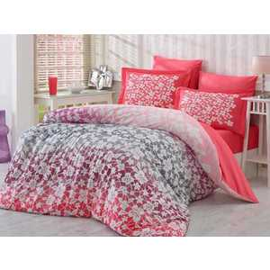где купить Комплект постельного белья Hobby home collection Евро, поплин, Mira, красный (1501000928) по лучшей цене