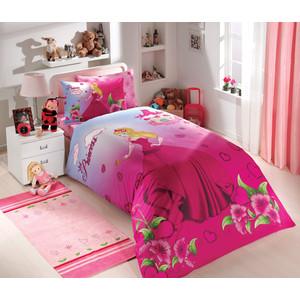 Комплект постельного белья Hobby home collection 1,5 сп, поплин, Prenses, фуксия (1501000150)  комплект постельного белья hobby home collection 1 5 сп поплин susana розовый 1501000177
