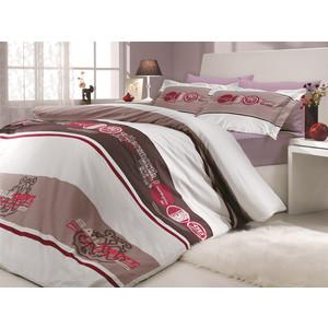 Комплект постельного белья Hobby home collection Евро, поплин, Rota, бордовый (1501000152)