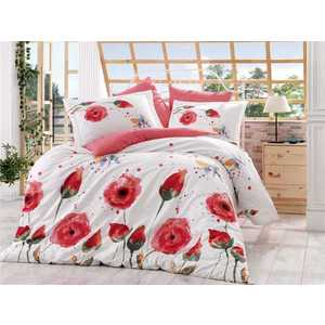 Комплект постельного белья Hobby home collection 1,5 сп, поплин, Veronika, красный (1501000886)