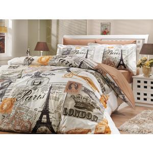 Комплект постельного белья Hobby home collection Евро, поплин, Vicenta, кремовый (1501000195)