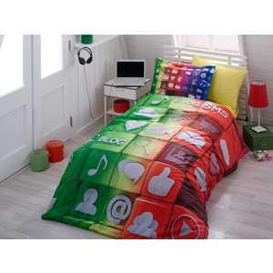 Комплект постельного белья Hobby home collection 1,5 сп, поплин, Tweet, (1501000894) комплект постельного белья michelle home textiles kdbb