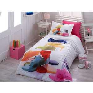 Комплект постельного белья Hobby home collection 1,5 сп, поплин, Rainbow, (1501000891) цена