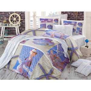 Комплект постельного белья Hobby home collection Евро, поплин, 3D Ocean, (1501000933) home decor ocean seal wall tapestry