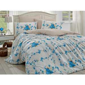 Комплект постельного белья Hobby home collection 1,5 сп, ранфорс, Gloria, синий (1501001103)