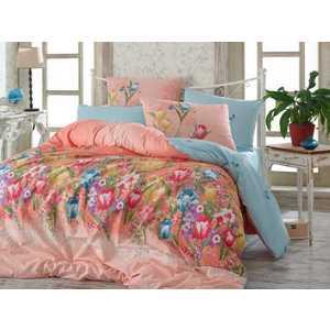 все цены на  Комплект постельного белья Hobby home collection 1,5 сп, ранфорс, Bianca, розовый (1501001101)  в интернете