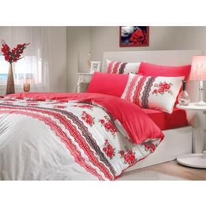 Комплект постельного белья Hobby home collection 1,5 сп, ранфорс, Camila, красный (1501000208) комплект постельного белья hobby home collection 2 х сп ранфорс camila синий 1501000908