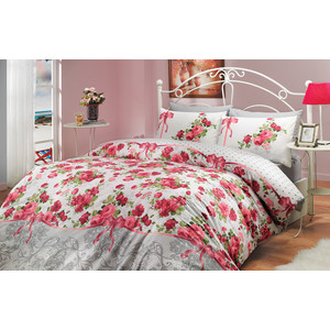 Комплект постельного белья Hobby home collection Евро, ранфорс, Felicita, красный (1501000227) цена