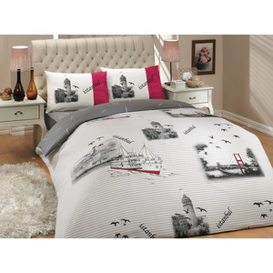 Комплект постельного белья Hobby home collection 2-х сп, ранфорс, Istanbul, серый (1501000658) il divo istanbul