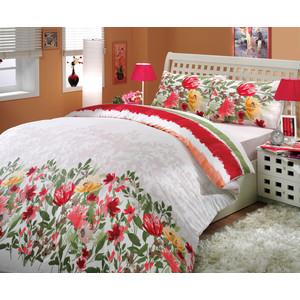 Комплект постельного белья Hobby home collection Семейный, ранфорс, Lilian, красный (1501000255) цена