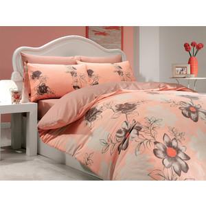 Комплект постельного белья Hobby home collection 1,5 сп, ранфорс, Sofia, персиковый (1501000273) комплект постельного белья mirarossi sofia