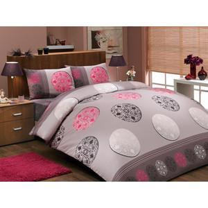 Комплект постельного белья Hobby home collection Евро, ранфорс, Valentina , розовый (1501000279)
