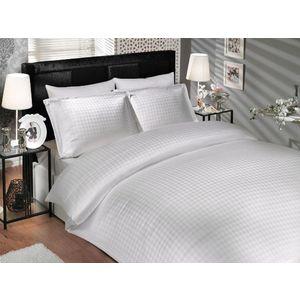 где купить Комплект постельного белья Hobby home collection Евро, бамбук, Diamond Houndstooth, Белый (1501000917) по лучшей цене