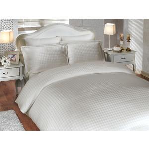 Комплект постельного белья Hobby home collection Евро, бамбук, Diamond Houndstooth, кремовый (1501000003)