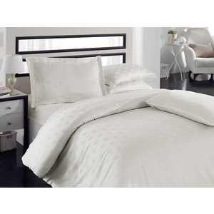 где купить Комплект постельного белья Hobby home collection Евро, бамбук, Diamond Spot, кремовый (1501000802) по лучшей цене