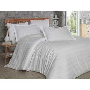 Комплект постельного белья Hobby home collection 1,5 сп, сатин, Bulut, кремовый (1607000156)
