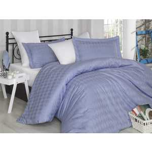 Комплект постельного белья Hobby home collection Евро, сатин, Bulut, лилово-белый (1607000011)