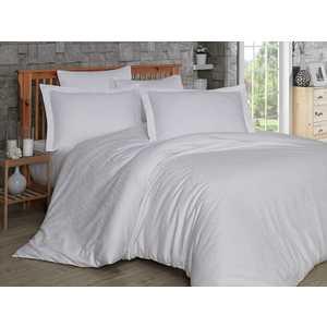 Комплект постельного белья Hobby home collection Евро, сатин, Damask, белый (1607000019)