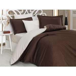 Комплект постельного белья Hobby home collection Евро, сатин, Damask, коричнево-кремовый (1607000020)