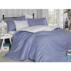 Комплект постельного белья Hobby home collection Евро, сатин, Damask, лилово-белый (1607000022)