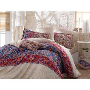 где купить Комплект постельного белья Hobby home collection 1,5 сп, сатин, Caterina, красный (1607000140) по лучшей цене