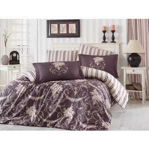 где купить Комплект постельного белья Hobby home collection Евро, сатин, Ornella, бежевый (1501001141) по лучшей цене