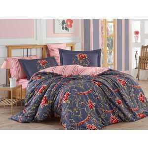 где купить Комплект постельного белья Hobby home collection Семейный, сатин, Ornella, красный (1501001154) по лучшей цене