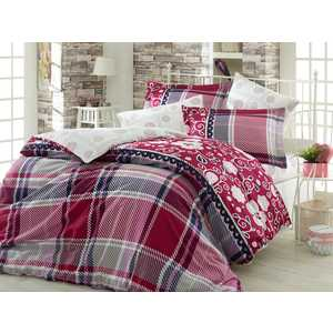 Комплект постельного белья Hobby home collection Евро, сатин, Monica, бордовый (1501001138) руки к женскому манекену monica комплект бежевые
