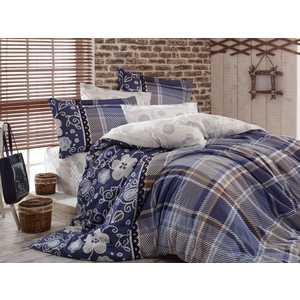 Комплект постельного белья Hobby home collection Евро, сатин, Monica, синий (1501001140)