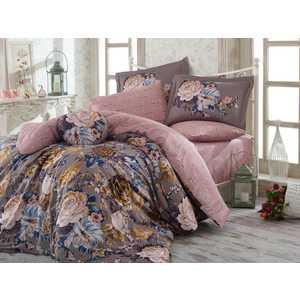 где купить Комплект постельного белья Hobby home collection 1,5 сп, сатин, Rosanna, серый (1607000154) по лучшей цене