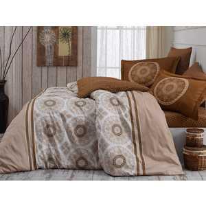 где купить Комплект постельного белья Hobby home collection Семейный, сатин, Silvana, бежевый (1501001157) по лучшей цене