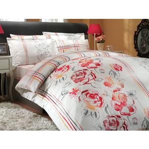 где купить Комплект постельного белья Hobby home collection Евро, сатин, Arabella, красный (1501000296) по лучшей цене