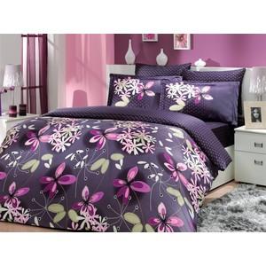 все цены на  Комплект постельного белья Hobby home collection Семейный, сатин, Chichek, фиолетовый (1501000300)  в интернете