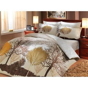 Комплект постельного белья Hobby home collection 1,5 сп, сатин, Infinity, кремовый (1607000141)