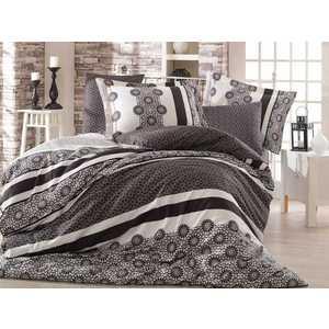 где купить Комплект постельного белья Hobby home collection Семейный, сатин, Lisa, черный (1501000993) по лучшей цене