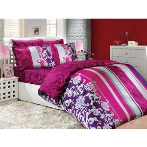 где купить Комплект постельного белья Hobby home collection Евро, сатин, Oriental, фуксия (1501000947) по лучшей цене